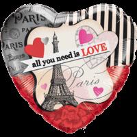 Stripy Parisian Love Balloon in a Box