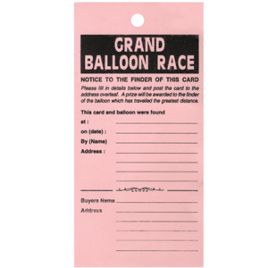 Balloon Race Labels x 100 Product Display