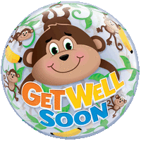 Get Well Soon Monkeys Balloon in a Box