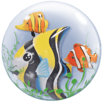 Tropical Fishes Double Bubble Balloon in a Box