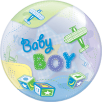 Baby Boy Themed Bubble Balloon in a Box
