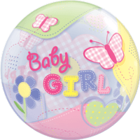 Baby Girl Butterflies Themed Bubble Balloon in a Box