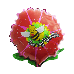 Bumble Bee Valentine Balloon in a Box