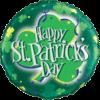 "18"" Happy St Patrick's Shamrock Balloon overview"