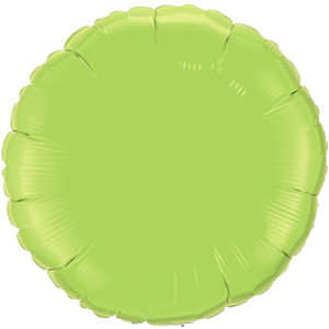 "18"" Lime Green foil Round Balloon Product Display"
