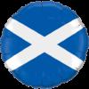 "18"" Scottish Flag Balloon overview"