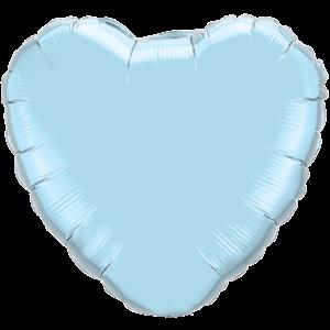 "36"" Pearl Light Blue foil Heart Balloon"