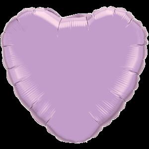 "36"" Pearl Lavender foil Heart Balloon"