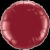 "18"" Round Burgundy Foil Balloon overview"
