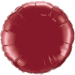 "18"" Burgundy foil Round Balloon Product Display"
