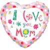 """18"""" Love you Mom Floral Balloon overview"""