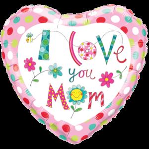 Rachel Ellen I Love You Mum Polka Dots Balloon in a Box
