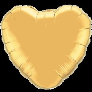 "36"" Metallic Gold foil Heart Balloon"