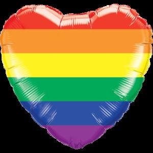 Radiant Rainbow Heart Balloon in a Box