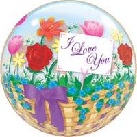 Love Flower Basket Bubble Balloon in a Box