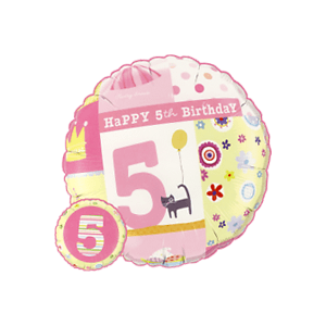 5th Birthday Girl Balloon in a Box