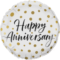 Happy Anniversary Gold Dots Balloon in a Box