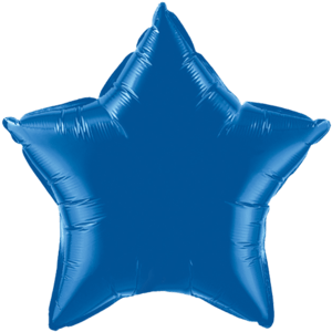 "20"" Dark Blue foil Star Balloon Product Display"