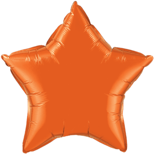 "20"" Orange foil Star Balloon Product Display"