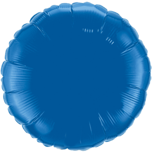 "18"" Dark Blue foil Round Balloon Product Display"