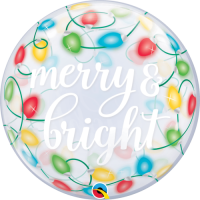 Merry & Bright Lights Bubble Balloon in a Box