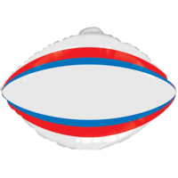 Blue & Red Rugby Ball Balloon in a Box