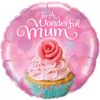 To a Wonderful Mum Floral Cupcake Balloon in a Box