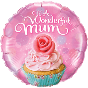 Wonderful Mum Cupcake Balloon in a Box