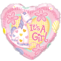 Baby Girl Soft Pink Balloon in a Box