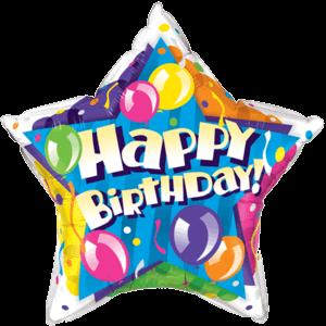The Happy Birthday Star Balloon in a Box