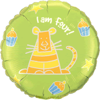 I am 4 Birthday Tiger! Balloon in a Box
