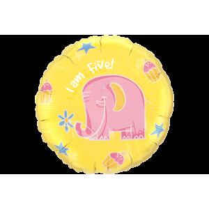 5th Birthday Elephant Balloon in a Box