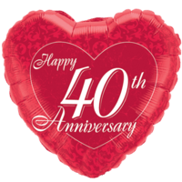 40th Anniversary Heart Balloon in a Box