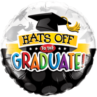 Colourful Hats Off To The Graduate Balloon in a Box