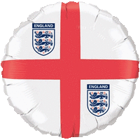 England 3 lions Balloon in a Box
