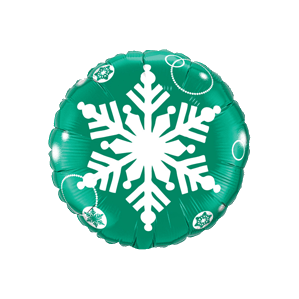 Green Snowflake Balloon in a Box