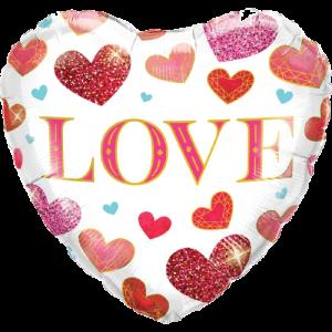 Love Jewel Hearts Balloon in a Box