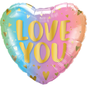 Love You Pastel Ombre & Hearts Balloon in a Box
