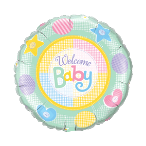 Happy Pastel Welcome Baby Balloon in a Box