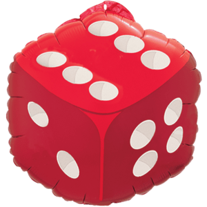 Red Dice Balloon in a Box