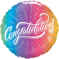 Congratulations Vibrant Ombre Balloon in a Box