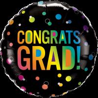 Congrats Grad Ombre Dots Balloon in a Box