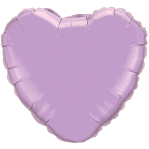 "18"" Pearl Lavender foil Heart Balloon Product Display"