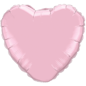 "18"" Pearl Pink foil Heart Balloon Product Display"