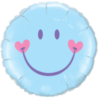 Sky Blue Happy Face Balloon in a Box