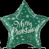 "18"" Merry Christmas Green Star Balloom overview"