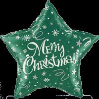 Green Star Christmas Balloon in a Box
