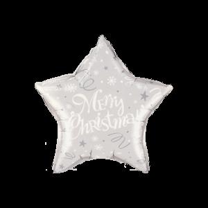 Merry Xmas Silver Star Balloon in a Box