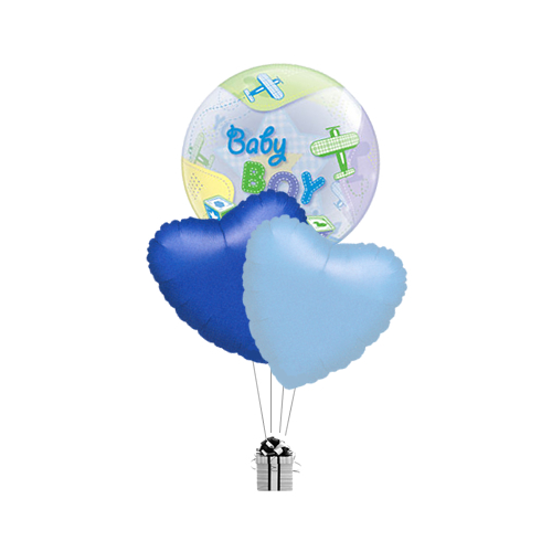 Bubble Baby Boy & Hearts