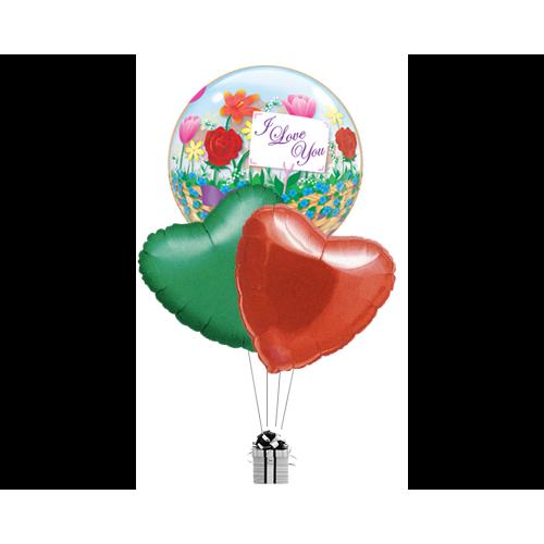 Bubble Love Flowers & Hearts